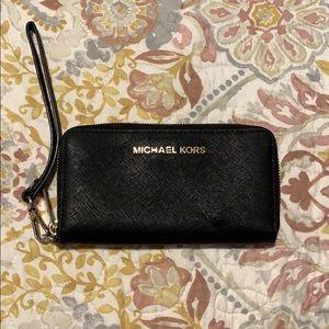 Black Michael Kors wristlet